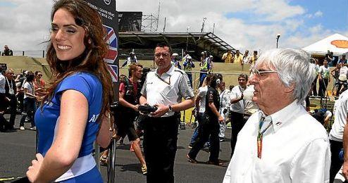 Ecclestone, patrón de la F1, en un Gran Premio.
