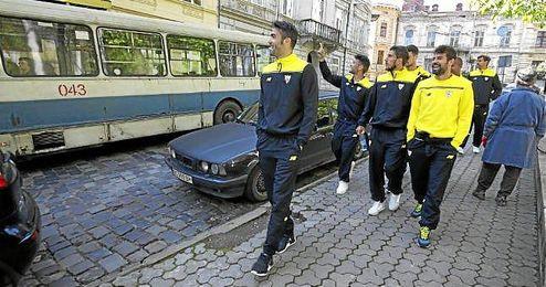 Iborra, por las calles de Lviv.