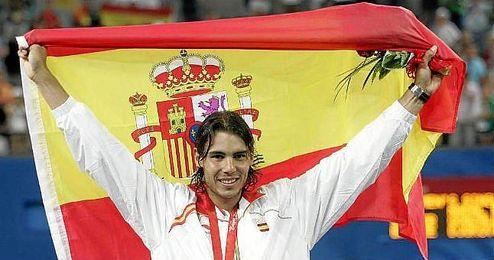 Rafa Nadal logró el oro en los Juegos Olímpicos de Pekín 2008.
