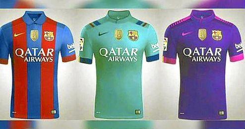 Las camisetas del FC Barcelona para la temporada 16 17. 79b3169849f