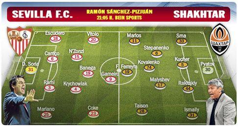 Sevilla F.C.-Shakhtar: La ilusi�n de la primera vez