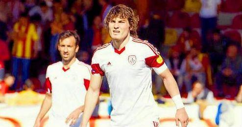 Çaglar Söyüncü, durante un partido con el Altinordu.