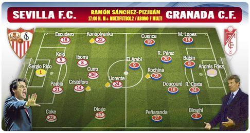 El Sevilla recibe al Granada en su �ltimo partido como local en este curso.