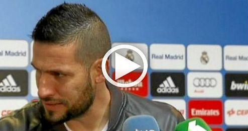 """""""Tengo cuatro años más de contrato y estoy muy feliz en el Madrid"""", afirma el portero catalán."""