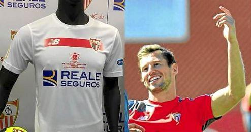 A Krychowiak no le gusta la camiseta del Sevilla para la final de Copa
