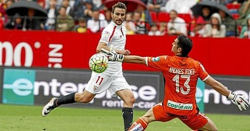 Juan Mu�oz estuvo cerca de marca ante el Granada.