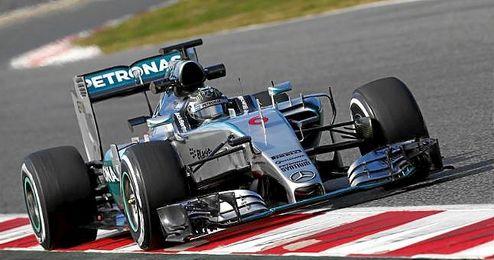 Nico Rosberg durante el Gran Premio de España del pasado año.