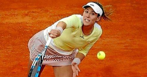 """""""En Madrid tengo muchas motivaciones, noto el apoyo del público"""", aseguró la tenista española."""
