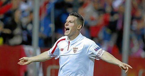 Gameiro se ha plantado en la final de la Europa League anotando 7 goles, la mitad de los marcados por el Sevilla (14).