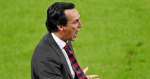 Emery, feliz tras el triunfo.