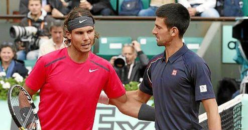 Rafa Nadal y Novak Djokovic se ver�an las caras en una hipot�tica semifinal.