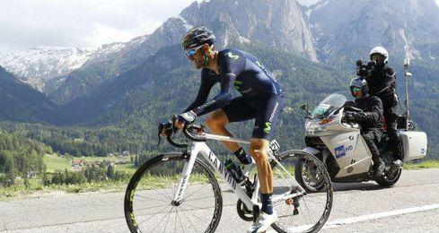 Valverde acabó tercero la etapa.