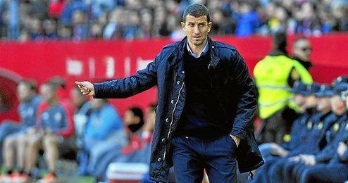 Javi Gracia, entrenador del Málaga.