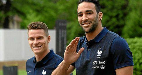 Rami y Gameiro en la concentración de Francia en Clairefontaine.