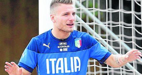 Ciro Immobile está concentrado con la selección italiana.