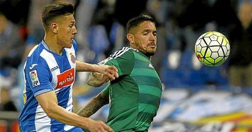 Juan Vargas, en el partido ante el Espanyol.