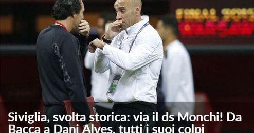 Así reflejan en Italia el adiós de Monchi.