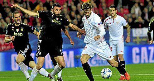 Llorente, en el partido ante la Juventus en la Champions.