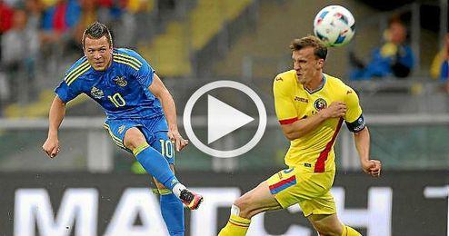 Konoplyanka ya brilló contra Rumanía.