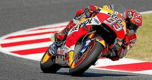 Márquez ha sido el más rápido en la calificación de Montmeló.