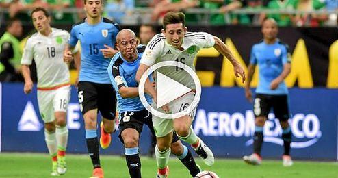 México se estrena con victoria ante una Uruguay sin Suárez