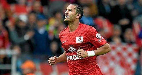 Rômulo, en un partido con el Spartak de Moscú.