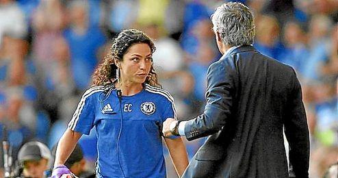 Eva Carneiro, durante su etapa en el Chelsea de Mourinho.