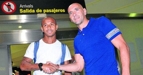 Mariano y Monchi, a su llegada a Sevilla.
