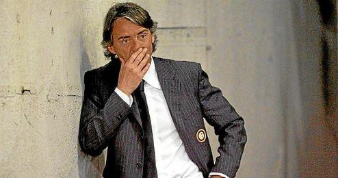 Mancini, entrenador del Inter de Mil�n.