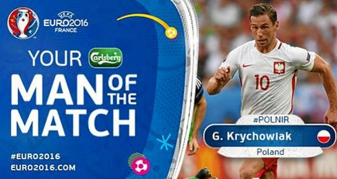 La UEFA ha elegido a Krychowiak, man of the match.