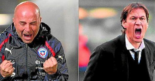 Jorge Sampaoli y Rudi García son dos técnicos con carácter y apasionados de su trabajo.