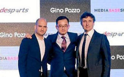 Pere Guardiola (BSM), Jiang Lizhang (Desports) y Gino Pozzo.