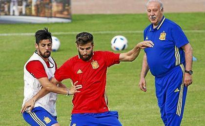 """El extremo andaluz aseguró que disfruta """"al máximo cada minuto"""" que le da Vicente del Bosque."""