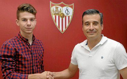 José María Amo posa con Miguel Ángel Gómez.