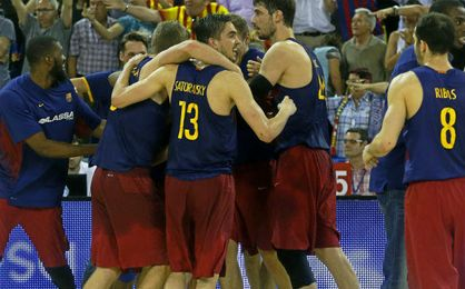 El Barcelona ganó con una canasta in extremis.