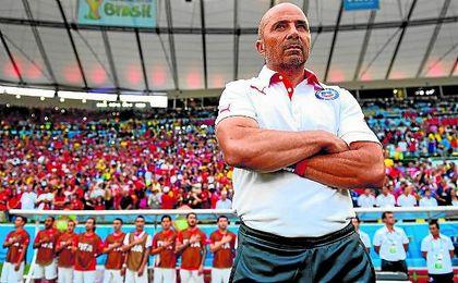 El argentino Jorge Sampaoli, como seleccionador de Chile durante el Mundial de Brasil.