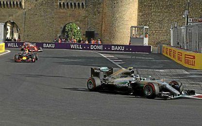 Rosberg ganó plácidamente en Bakú.