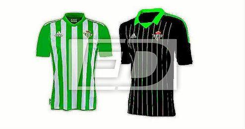 ESTADIO Deportivo recrea las dos posibles equipaciones del Betis para la 16/17 según los detalles filtrados.