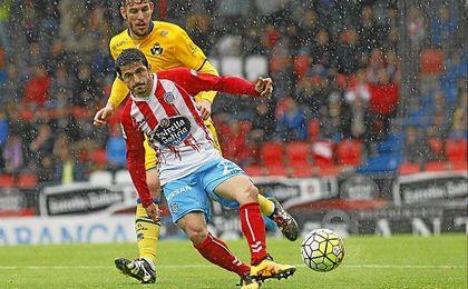 Jonathan Pereira, en un partido contra el Alcorcón.