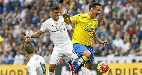 Roque Mesa, en el partido ante el Real Madrid.