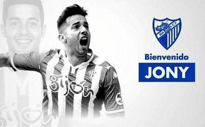 El Málaga anuncia el fichaje de ´Jony´.