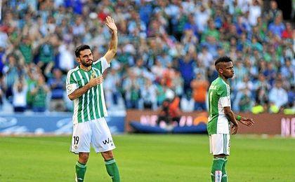 Molina en su despedida del Villamarín