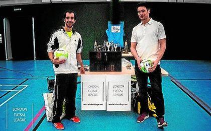 David González y Chechu Rama, que apostaron por impulsar el fútbol sala en el Reino Unido.