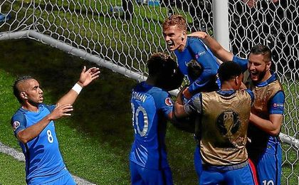 Griezmann celebra su segundo gol ante Irlanda.