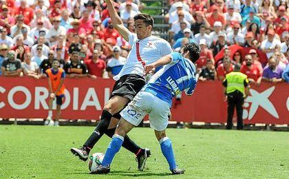 José Antonio Martínez ha jugado la fase de ascenso con el Sevilla Atlético como titular tras la lesión de Cotán.