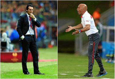 Dos técnicos muy diferentes, en todos los sentidos.