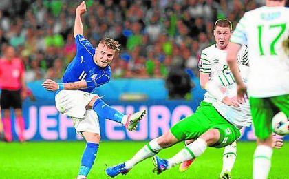 Ciro Immobile, sin minutos ante España, está en cuartos de la Eurocopa con la selección italiana.