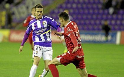 Manu del Moral, en un partido con el Real Valladolid.