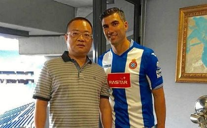 José Antonio Reyes ha sido presentado este miércoles como nuevo futbolista del Espanyol.