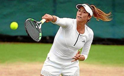 La campeona de Roland Garros jugó sin convicción, y su saque no le ayudó en absoluto, perdiéndolo en cuatro ocasiones.